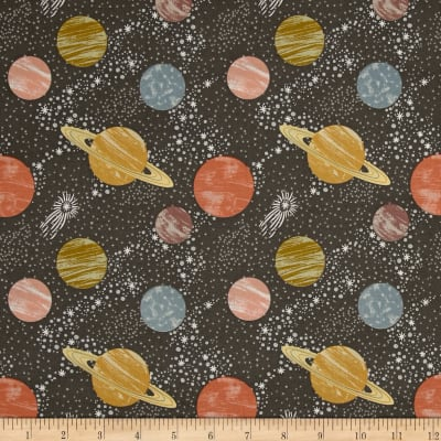 To The Moon & Back Planets Dark Grey