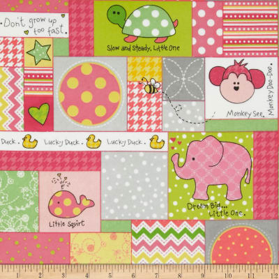 Kimberbell Little One Flannel Too! Allover Patch Pink