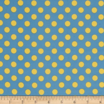 Kimberbell Little One Flannel Too! Dots Blue Yellow