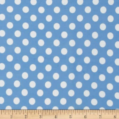 Kimberbell Little One Flannel Too! Dots Blue/White