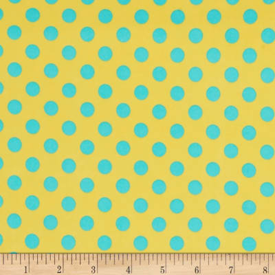 Kimberbell Little One Flannel Too! Dots Yellow Teal