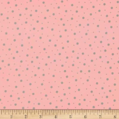 Kimberbell Little One Flannel Too! Random Dots Pink/Grey