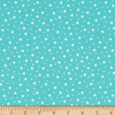 Kimberbell Little One Flannel Too! Random Dots Teal/White