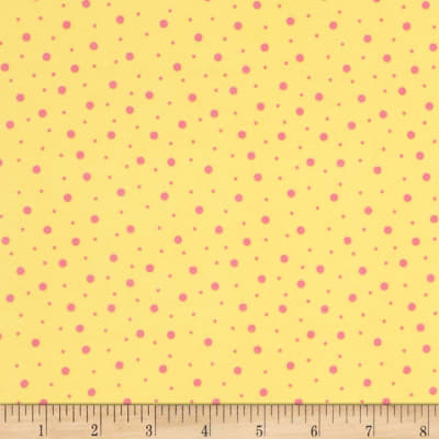 Kimberbell Little One Flannel Too! Random Dots Yellow/Pink