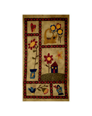 "Folk Art Flannels 25.5"" Panel Print Tobacco"