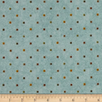 Folk Art Flannels Multi Dot Light Teal