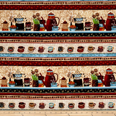 Coffee House Coffee Stripe Multi