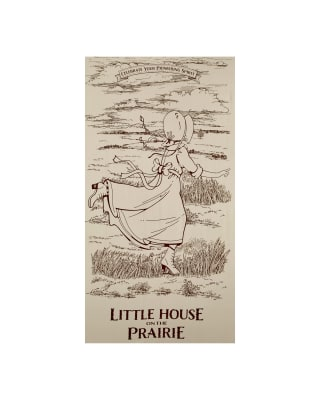 "Little House On The Prairie Running Girl 23.5"" Panel Brown"