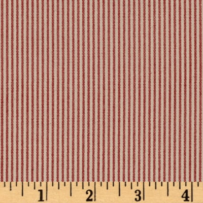 Little House on the Prairie Ticking Stripe Red