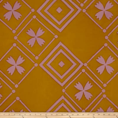 Alison Glass Handcrafted Patchwork Batik Tile Goldenrod Yellow
