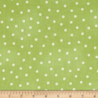 QT Fabrics Tidings Of Great Joy Baby Buttons Light Green
