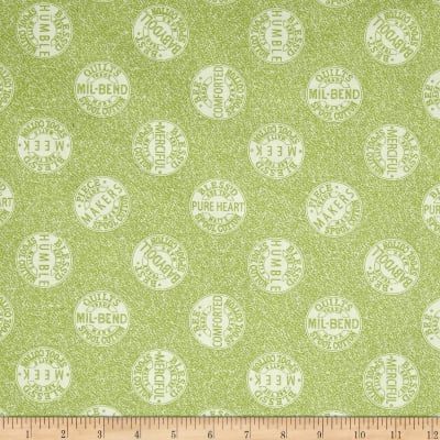 QT Fabrics Tidings Of Great Joy Bee-Attitudes Spool Tops Light Green