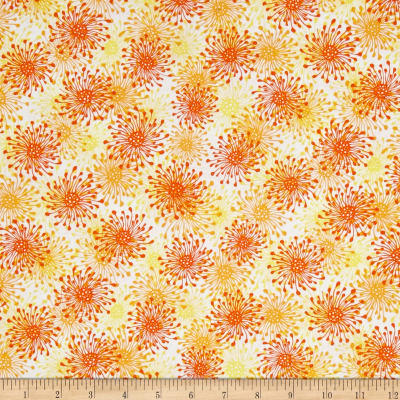 QT Fabrics Trust In You Starburst Orange