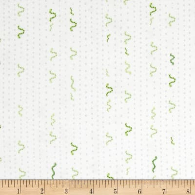 Ink & Arrow Little Buggers Flannel Inch Worm Stripe White