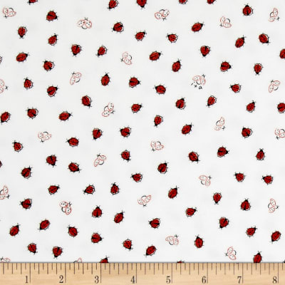 Ink & Arrow Flannel Littler Buggers Flannel Lady Bugs White