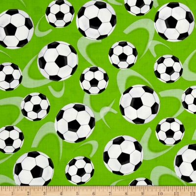 Score! Large Tossed Soccer Balls Green
