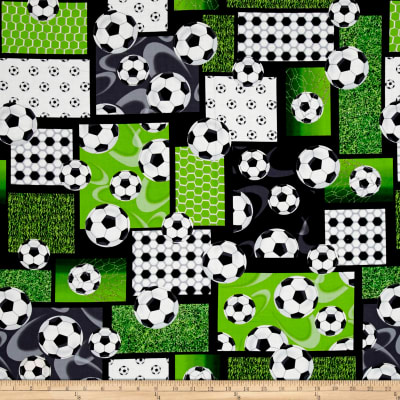 Score! Soccer Patchwork Black/Green