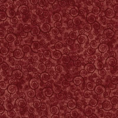 QT Fabrics Harmony Flannel Curly Scroll Paprika