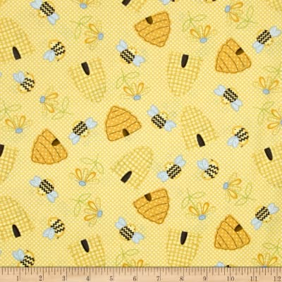 Sew Bee It Tossed Beehives Yellow