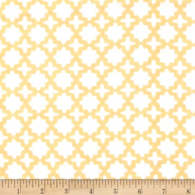 Kaufman Little Prints Double Gauze Trellis Yellow