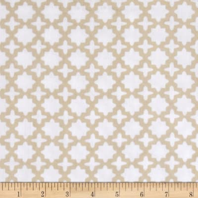 Kaufman Little Prints Double Gauze Trellis Natural