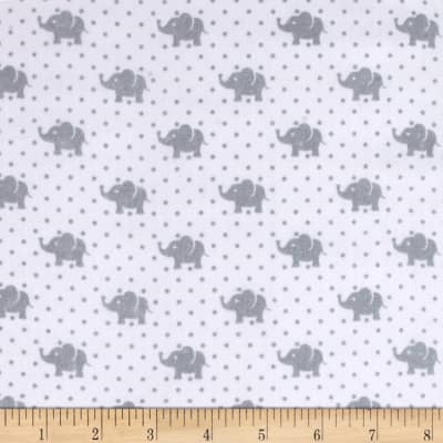 Kaufman Little Prints Double Gauze Elephant Grey
