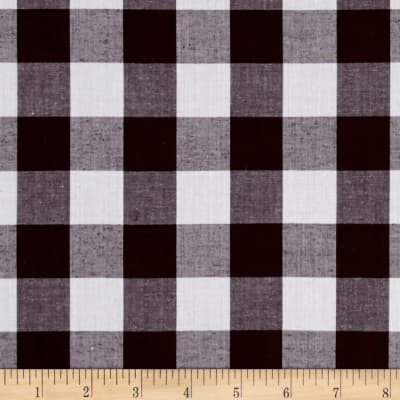 "Richcheck 60"" Gingham Check 1"" Brown"