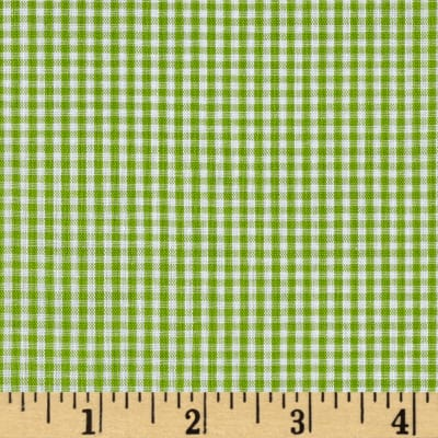 "Richcheck 60"" Gingham Check 1/16"" Lime"
