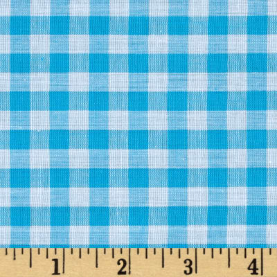 "Richcheck 60"" Gingham Check 1/4"" Turquoise"