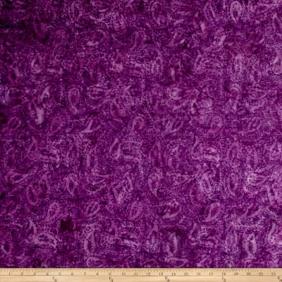 "Timeless Treasures 106"" Batik Paisley Purple"