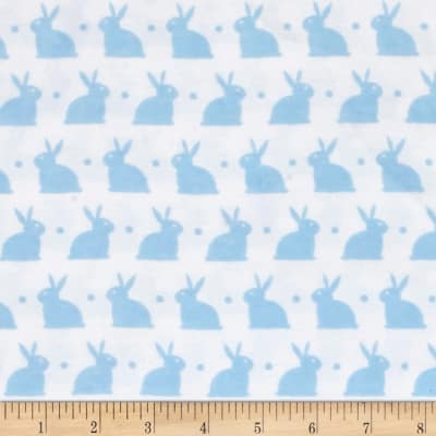 Dreamland Flannel Bedtime Bunny White/Dreamy Blue