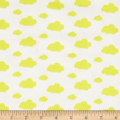 Dreamland Flannel Dreamy Clouds White/Sunshine Yellow
