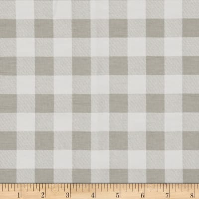 Premier Prints Plaid Twill Snowy Gray
