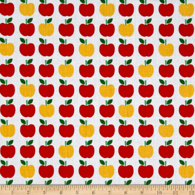 Kaufman Back To School Apples White