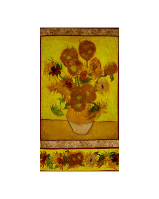 "Kaufman Van Gogh Museum Digital 24"" Panel Sunflower"