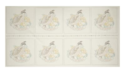 "Kaufman Birds of Liberty State 24"" Panel Blocks California"
