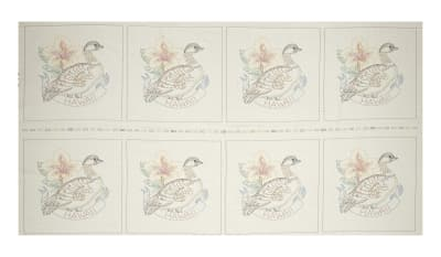 "Kaufman Birds of Liberty State 24"" Panel Blocks Hawaii"
