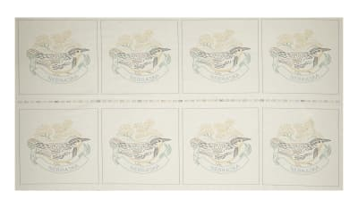 "Kaufman Birds of Liberty State 24"" Panel Blocks Nebraska"