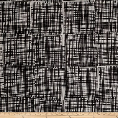 Kaufman Marks by Valori Wells Grid Plaid Charcoal