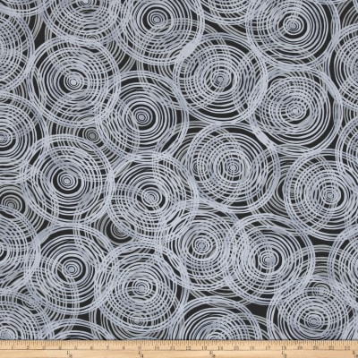 Kaufman Marks by Valori Wells Circle Swirl Charcoal