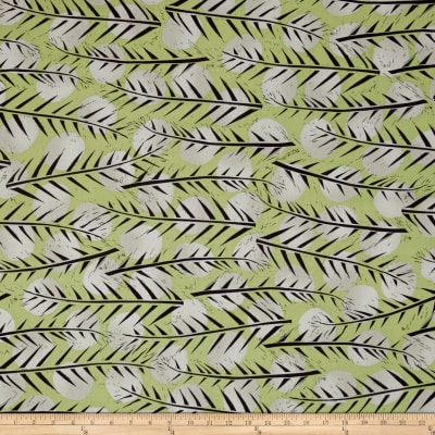 Kaufman Marks by Valori Wells Leaf Stripe Charcoal