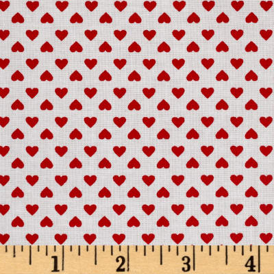 Kaufman Sevenberry Classiques Small Hearts Poppy
