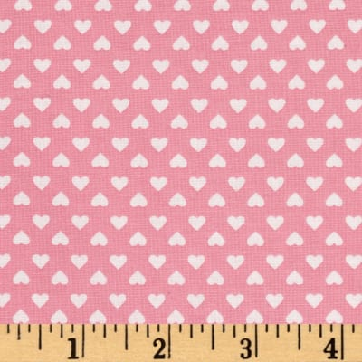 Kaufman Sevenberry Classiques Small Hearts Pink