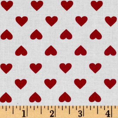 Kaufman Sevenberry Classiques Med Hearts Poppy