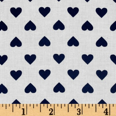 Kaufman Sevenberry Classiques Med Hearts Midnight