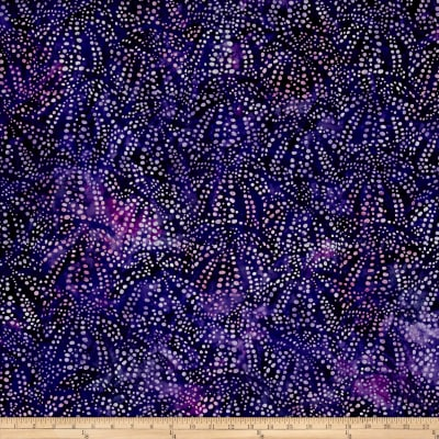 Kaufman Artisan Batiks Tiger Fish Bubble Spray Purple