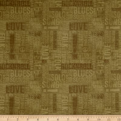 Type Band Words Olive