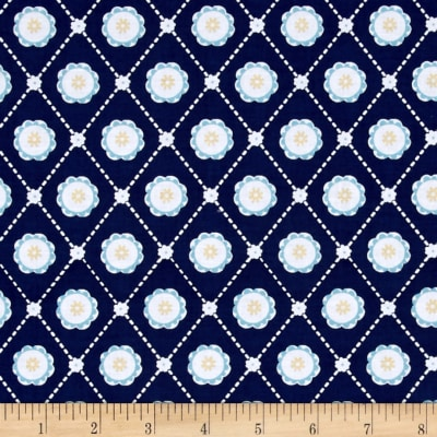 Buttercream Geometric Light Navy