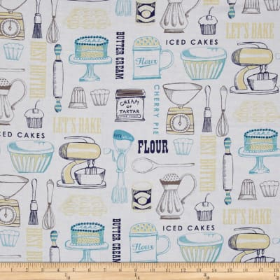 Buttercream Toile Light Navy