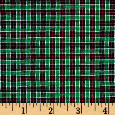 Rustic Woven Small Plaid Navy/Red/Green/Yellow